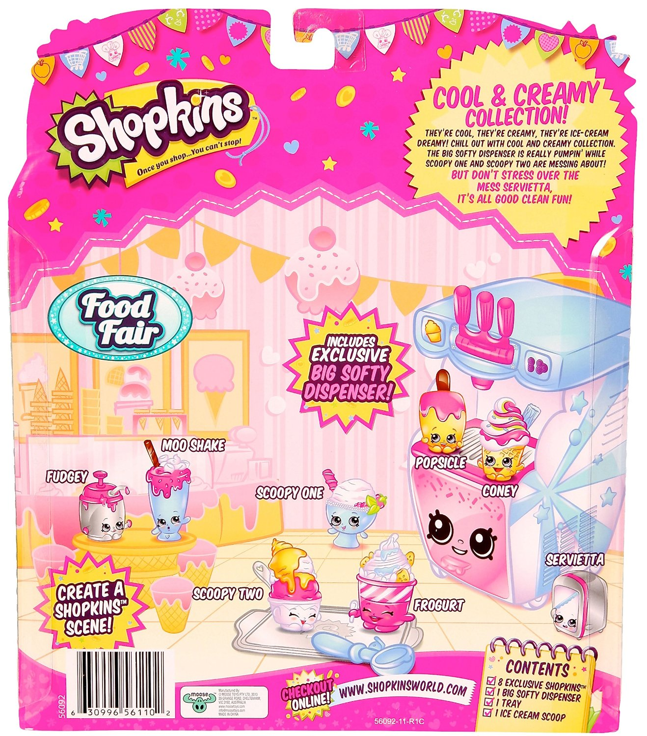 Moose Toys Shopkins Season 3 Food Fair Themed Packs Cool And Creamy  Collection   Walmart.com