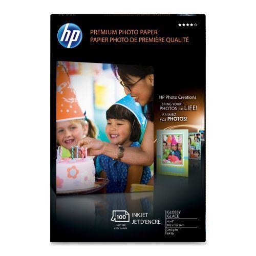 HP 4x6 Premium Glossy Photo Paper, 100 sheets