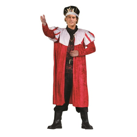 King's Red Velvet Robe Costume