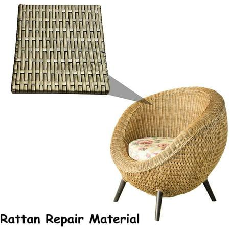 Synthetic Rattan Repair Material Brown, Resin Wicker Patio Furniture Repair