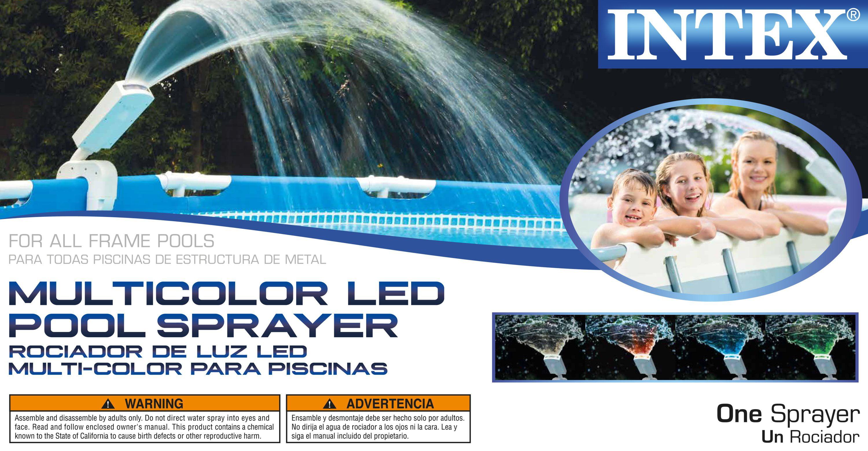 Intex Mult-Color LED Pool Sprayer - Walmart.com