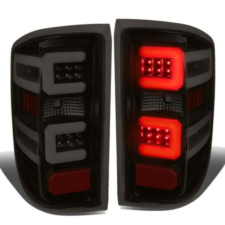 - For 15-17 Chevy Silverado /GMC Sierra 1500 2500 3500 HD 3D LED Light Bar Tail Lights ( Black Housing Smoked Lens )