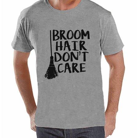 7 ate 9 Apparel Men's Broom Hair Witch Halloween T-shirt - Medium - Halloween 13k