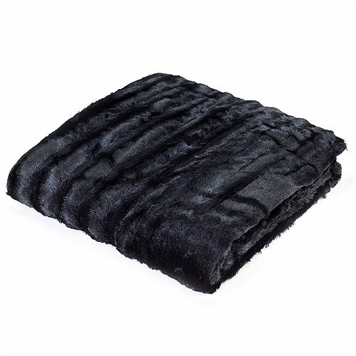 "Comfort Classics York Faux Fur Knitted 50"" x 60"" Throw"