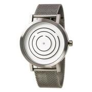 8901GM-40 Men's Free Time White Dial Steel Mesh Bracelet Watch