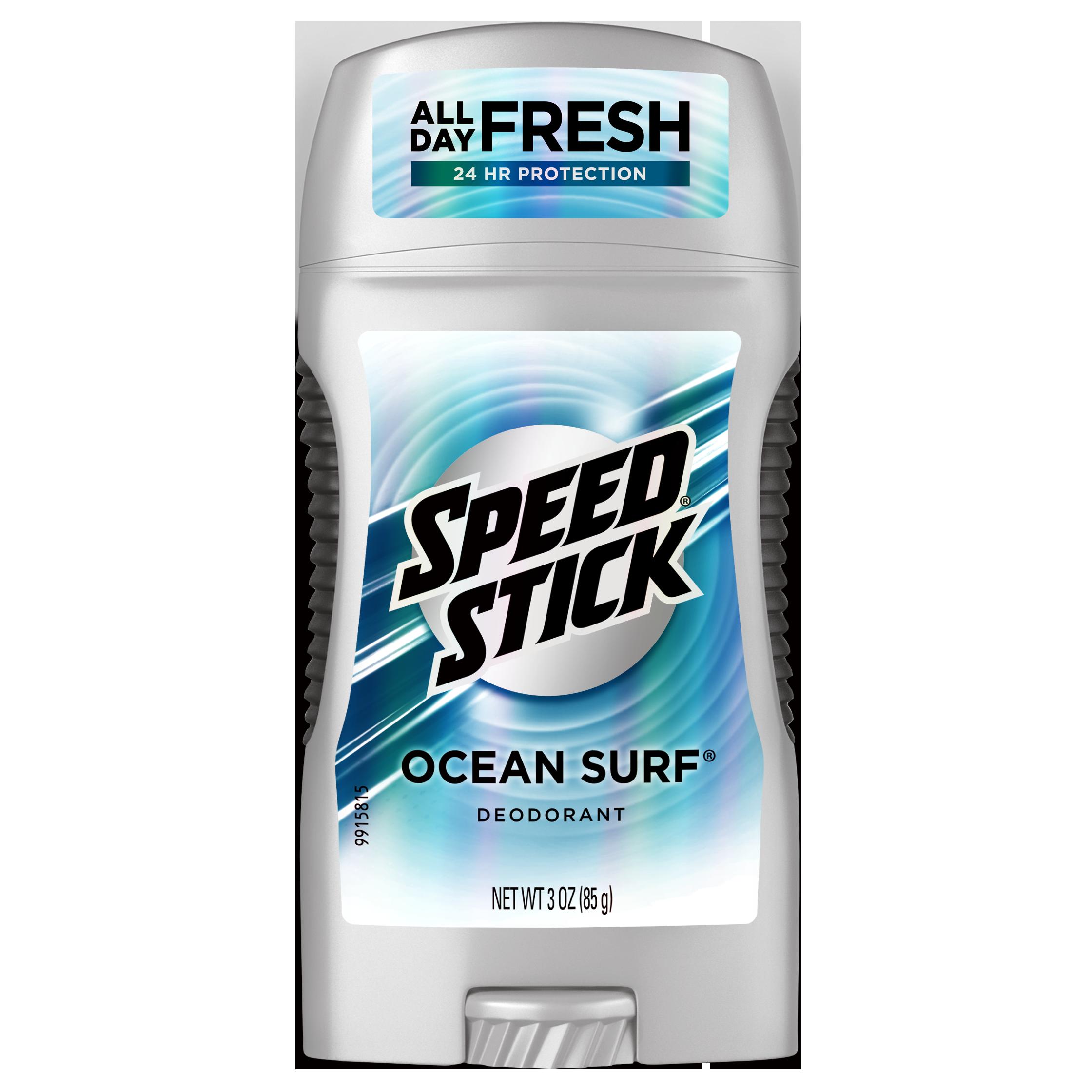 Speed Stick Deodorant, Ocean Surf, 3 Oz Stick