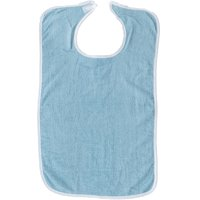 Pack of 6 Terry Adult Bibs with Velcro Closure (Blue)
