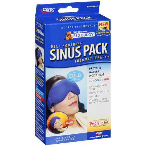 Bed Buddy Deep Soothing Sinus Pack with Strap Thermatherapy