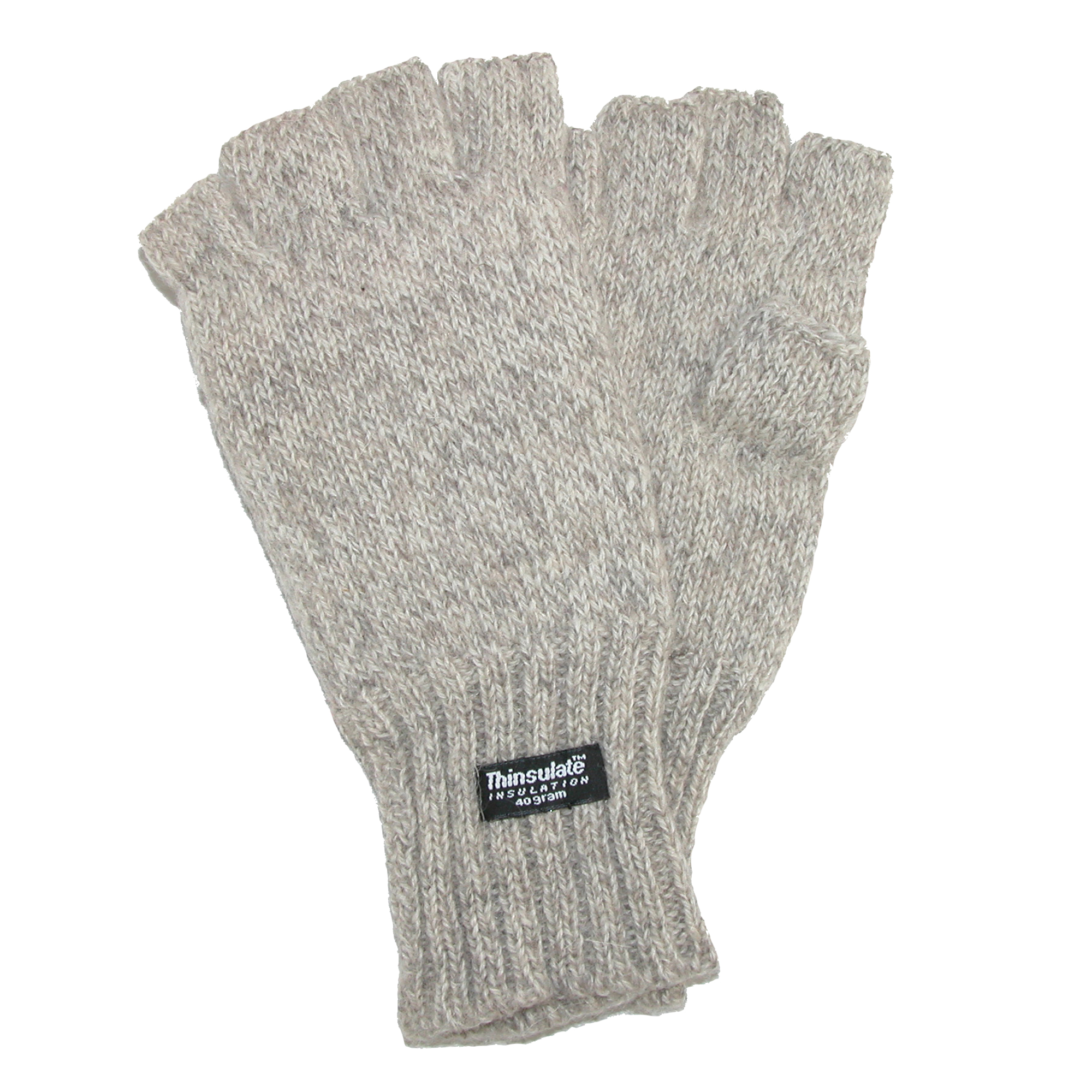 Dorfman Pacific  Mens Wool Fingerless Winter Gloves with Thinsulate