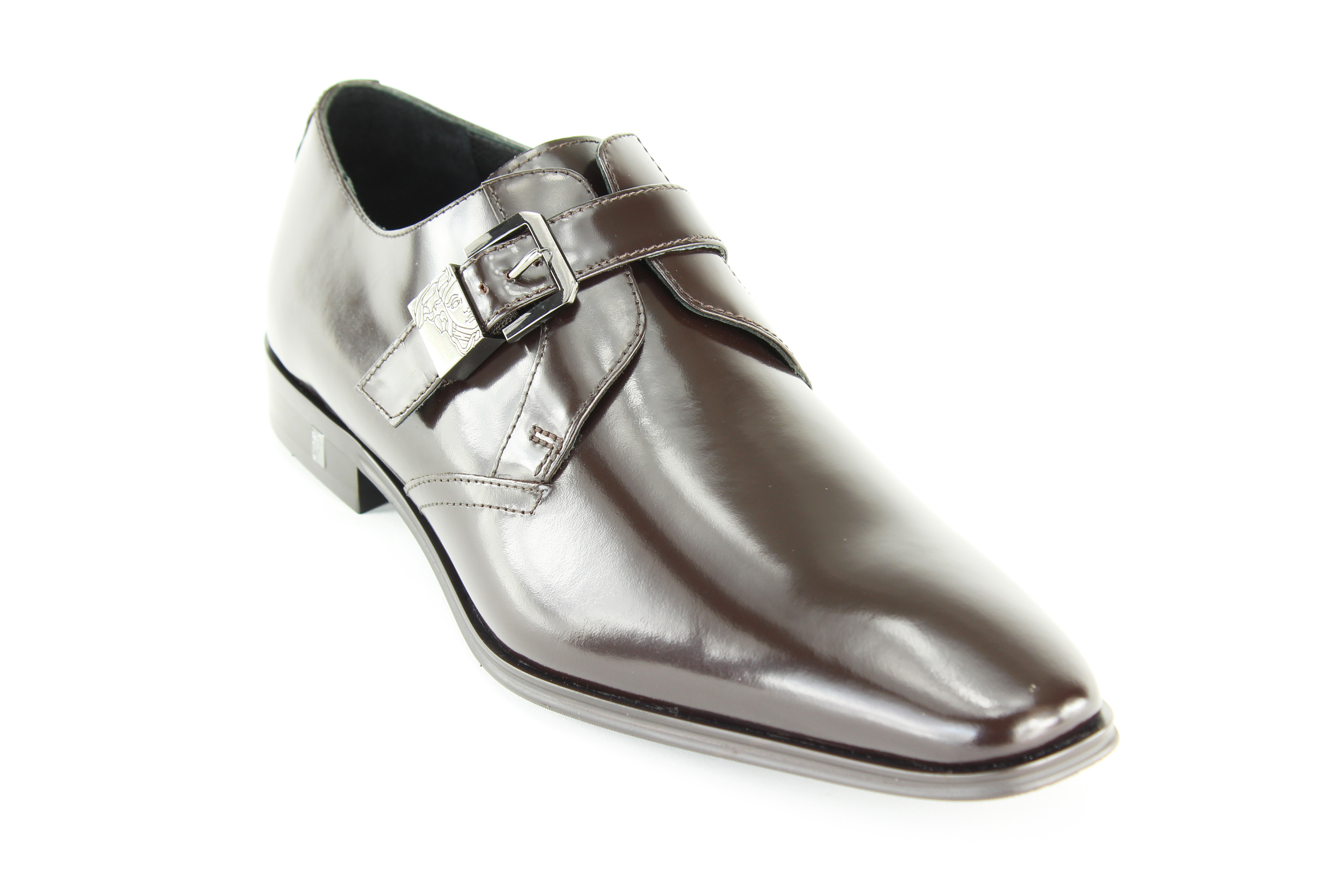 Versace Collection Mens Brown Leather Loafers