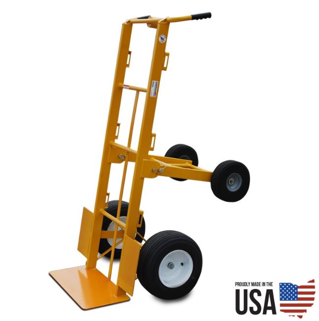1000 lbs. Carry Capacity Mega Hauler Hand Truck With Upper Axle for Moving