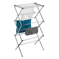 Honey Can Do Commercial Medium Folding Steel Accordion Drying Rack, Chrome