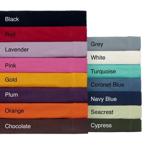 Ivy Union Jersey-knit Cotton Twin XL 3-piece Sheet Set Black