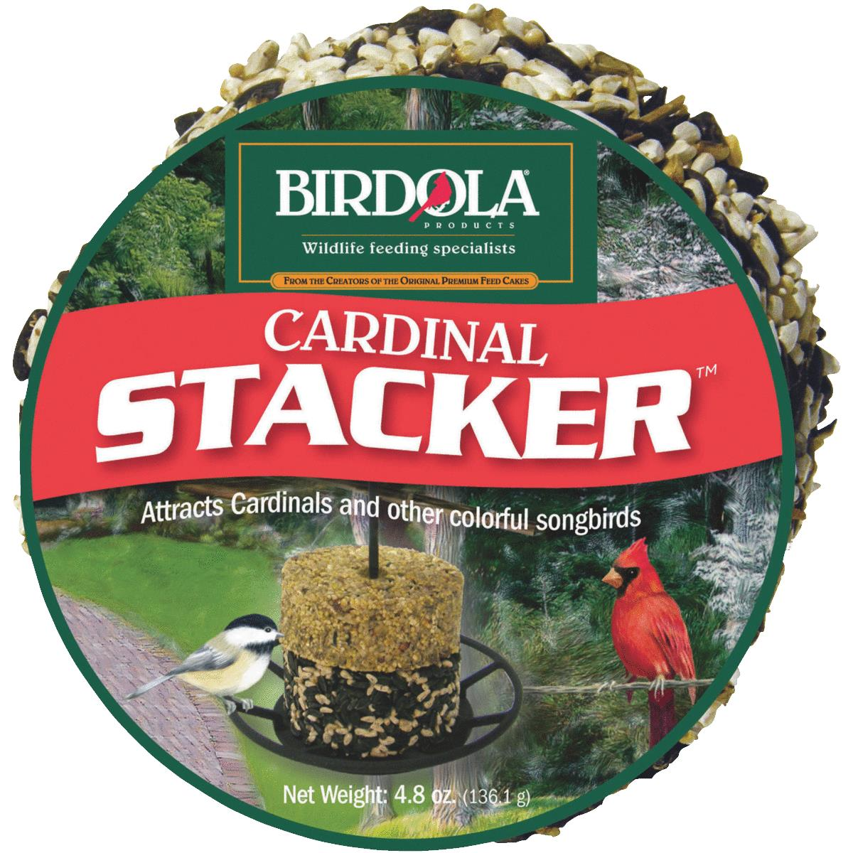 Birdola Cardinal Stacker, Premium Seek Cake, 4.8-Ounces