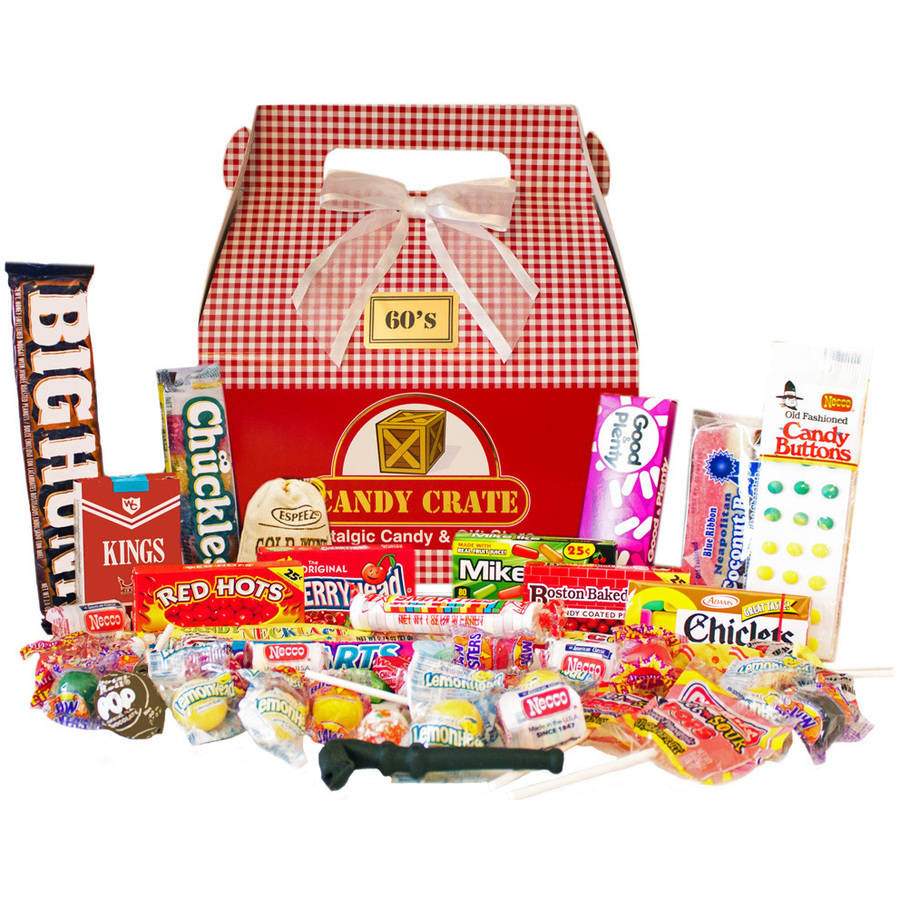 Candy Crate Holiday 1960s Retro Candy Gift Box