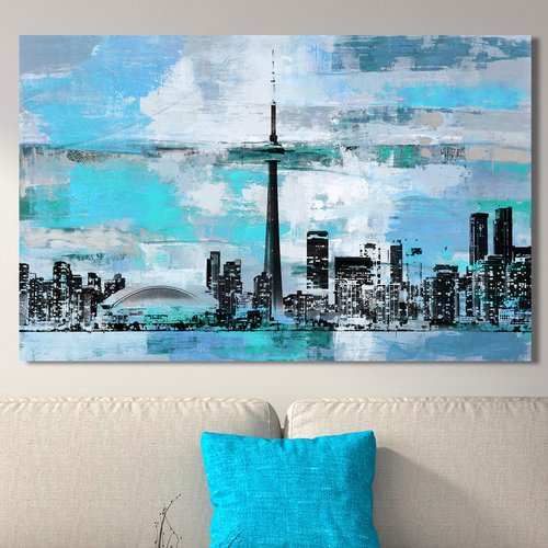 Latitude Run 'Toronto III' Graphic Art Print on Wrapped Canvas
