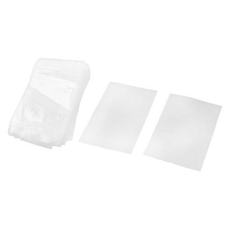 Home Kitchen Plastic Zipper Resealable Storage Bags Clear 12cm x 8cm 100pcs (Clear Storage Bags)