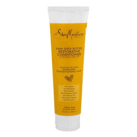 Shea Moisture Raw Shea Butter Restorative Conditioner W/Sea Kelp & Argan Oil, 10.3 FL OZ ()