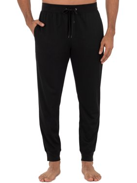 Fruit Of The Loom Men's Knit Poly Rayon Jogger Lounge Pant