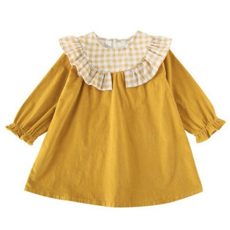 Kids Girl Dress Toddler Baby Long Sleeve Dresses Autumn Winter Children Clothing Girls Cotton Princess Dress Kid Tops Outfits
