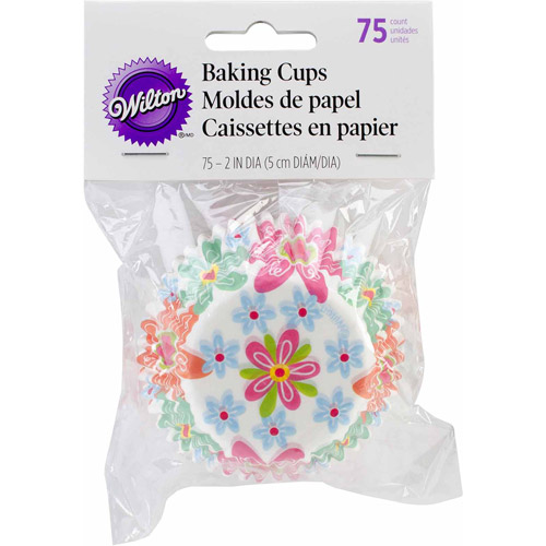 Wilton Standard Baking Cup Liner, Spring 75 ct. 415-6080