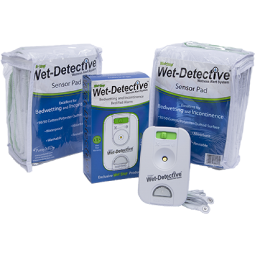 Wet-Detective Incontinence Alert System (Alarm + 2 Sensor Pads)