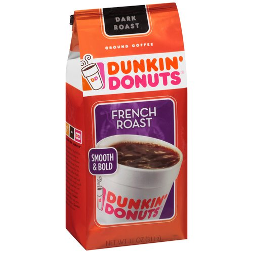 Dunkin' Donuts French Roast Ground Coffee, 11 oz