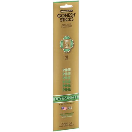 Charcoal Incense Sticks (Gonesh® Extra Rich® Pine Incense Sticks 20 ct Pack)