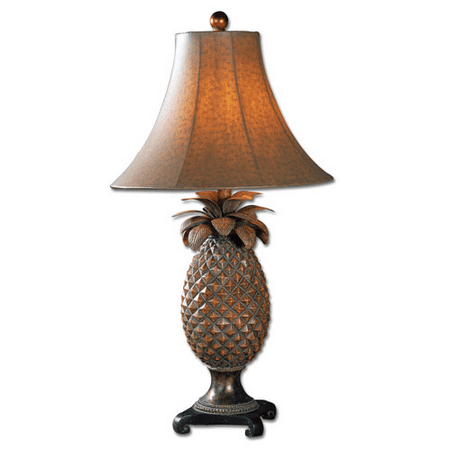 Table Lamps 1 Light With Brown Glaze Bronze Accents Finish Resin Metal Material 31 inch 100 Watts