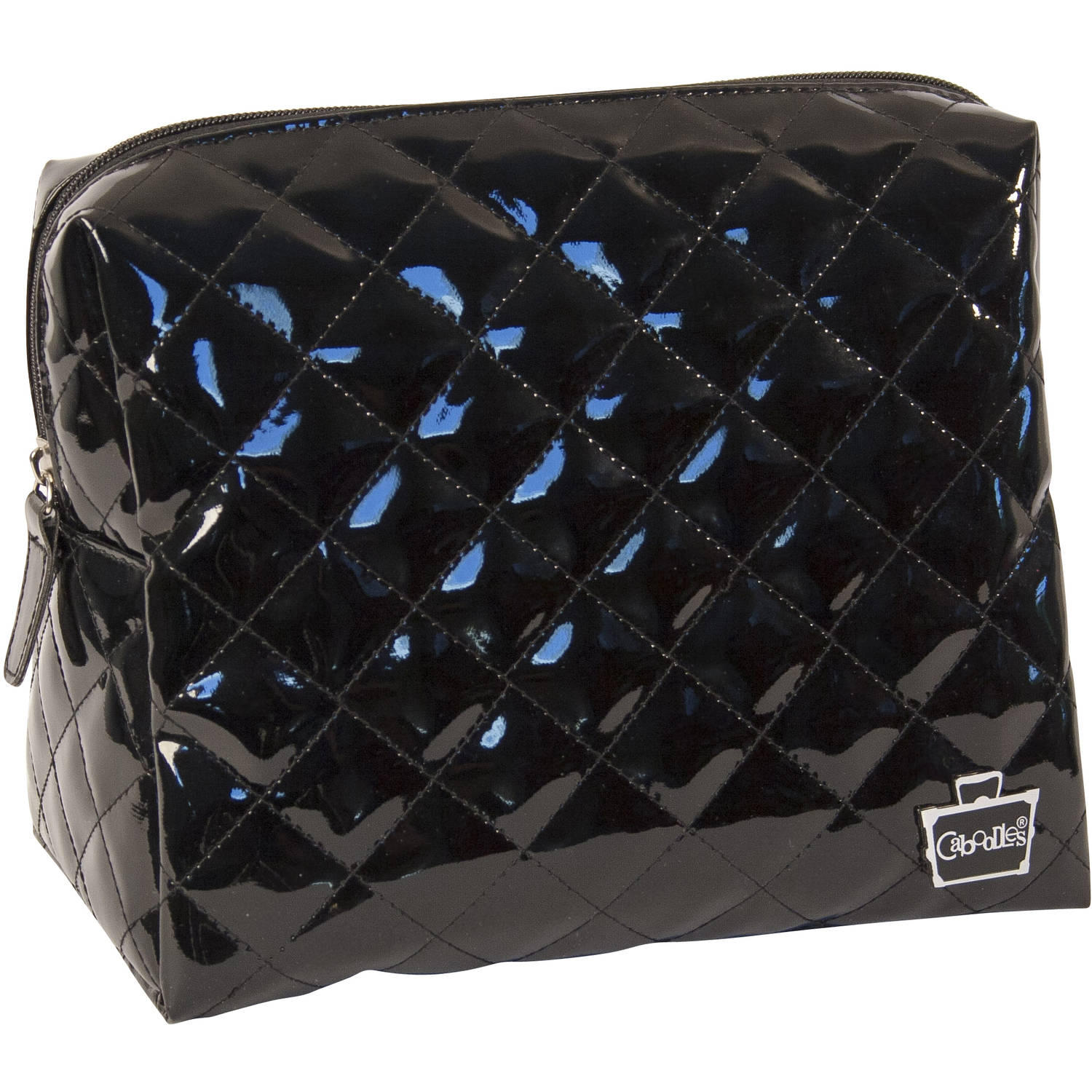 Caboodles Black Diamond Collection Large Cosmetic Bag, Black