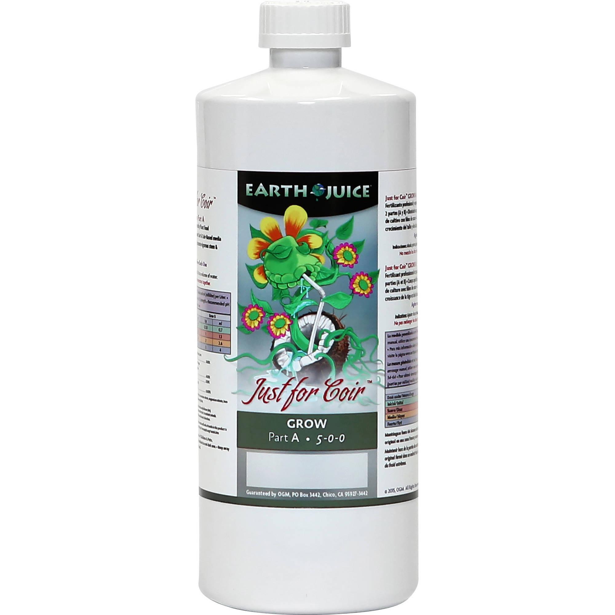 Earth Juice Just for Coir Grow, Part A