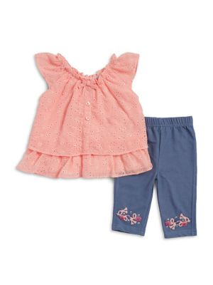 Baby Girl's Two Piece Lace Crochet Set