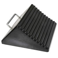 "8"" Rubber Wedge-Style Wide Wheel Chock"