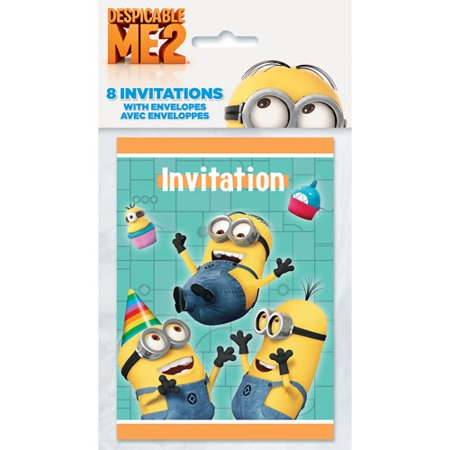 Despicable Me Minions Birthday Party Ct Invitations W - Birthday invitation maker minions