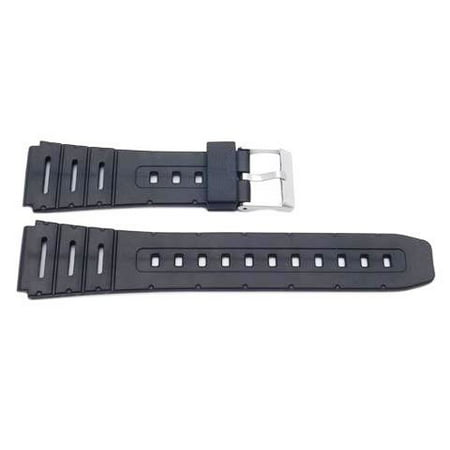 Casio Style Replacement Watch Band 20mm Black Resin