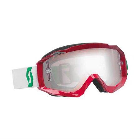 Scott USA Hustle MX Offroad Goggles Oxide Red/Chrome Lens