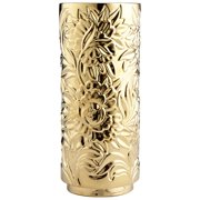 "Cyan Design Large Carnation Vase Gold Carnation 18.25"" Tall Ceramic Vase"