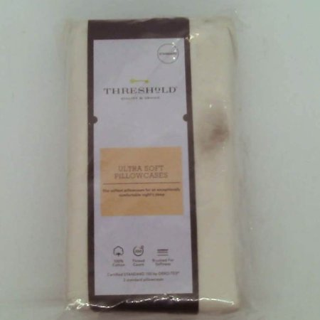 Ultra Soft Solid Pillowcase Set 300 Thread Count - Threshold - Standard - Ivory