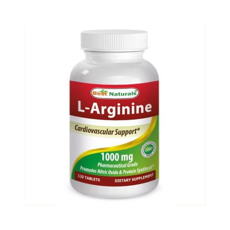Best Naturals L-Arginine 1000mg, 120 Ct (Best Arginine Supplement For Ed)