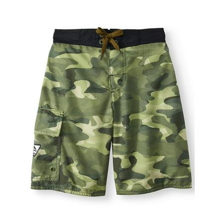 Digi Camo Swim Trunks (Big - Boys Swim Shorts Sale
