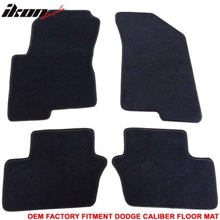 Fits 07-12 Dodge Caliber 4Dr OEM Factory Fitment Car Floor Mats Front&Rear Nylon ()