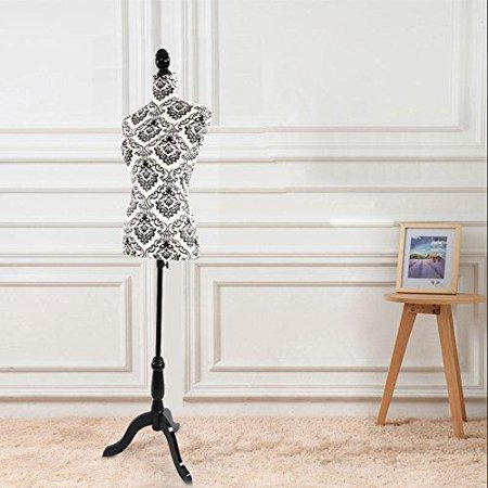 - Ktaxon Female Mannequin Torso Dress Form Display W/ Black Tripod Stand Designer Pattern