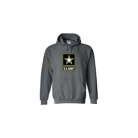 Army Logo Hooded Sweatshirt - Rogue River Tactical US Army Emblem Logo PT Hoodie United States Army Hooded Sweatshirt (XX-Large, Gray)