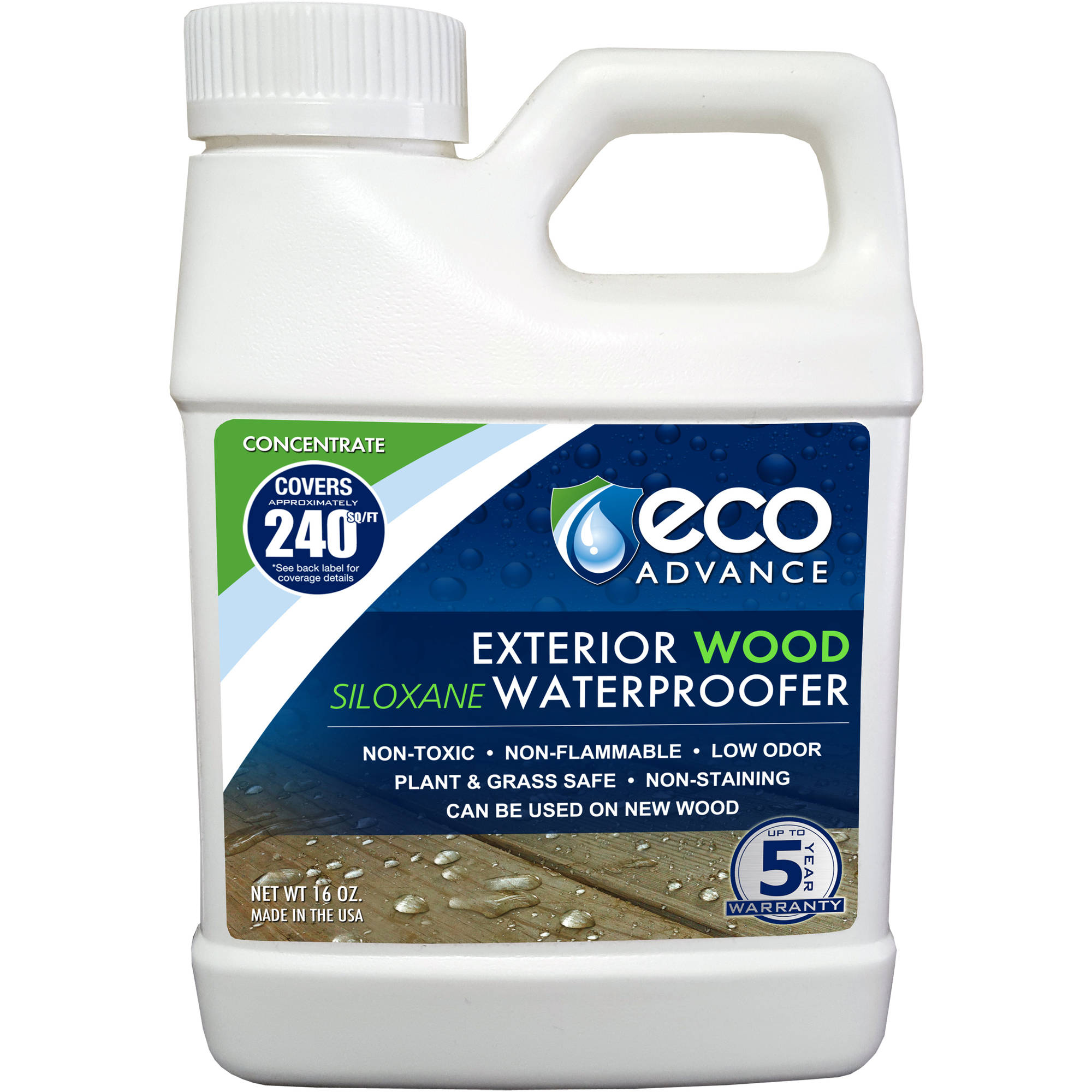 Eco Advance Wood Siloxane Waterproofer, Liquid Concentrate, 16 oz