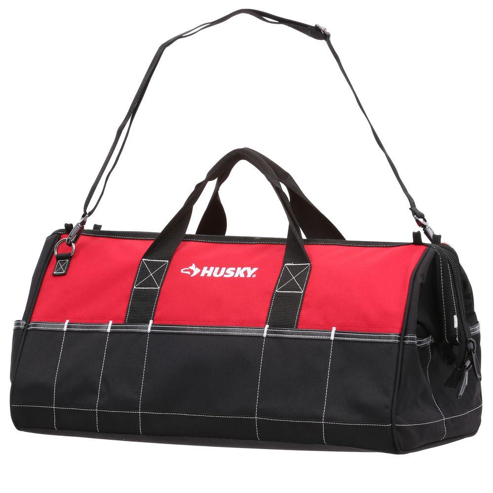 Husky 24 Inch Hand Tools Organizer 26 Storage Pockets Tool Bag Water Resistant by