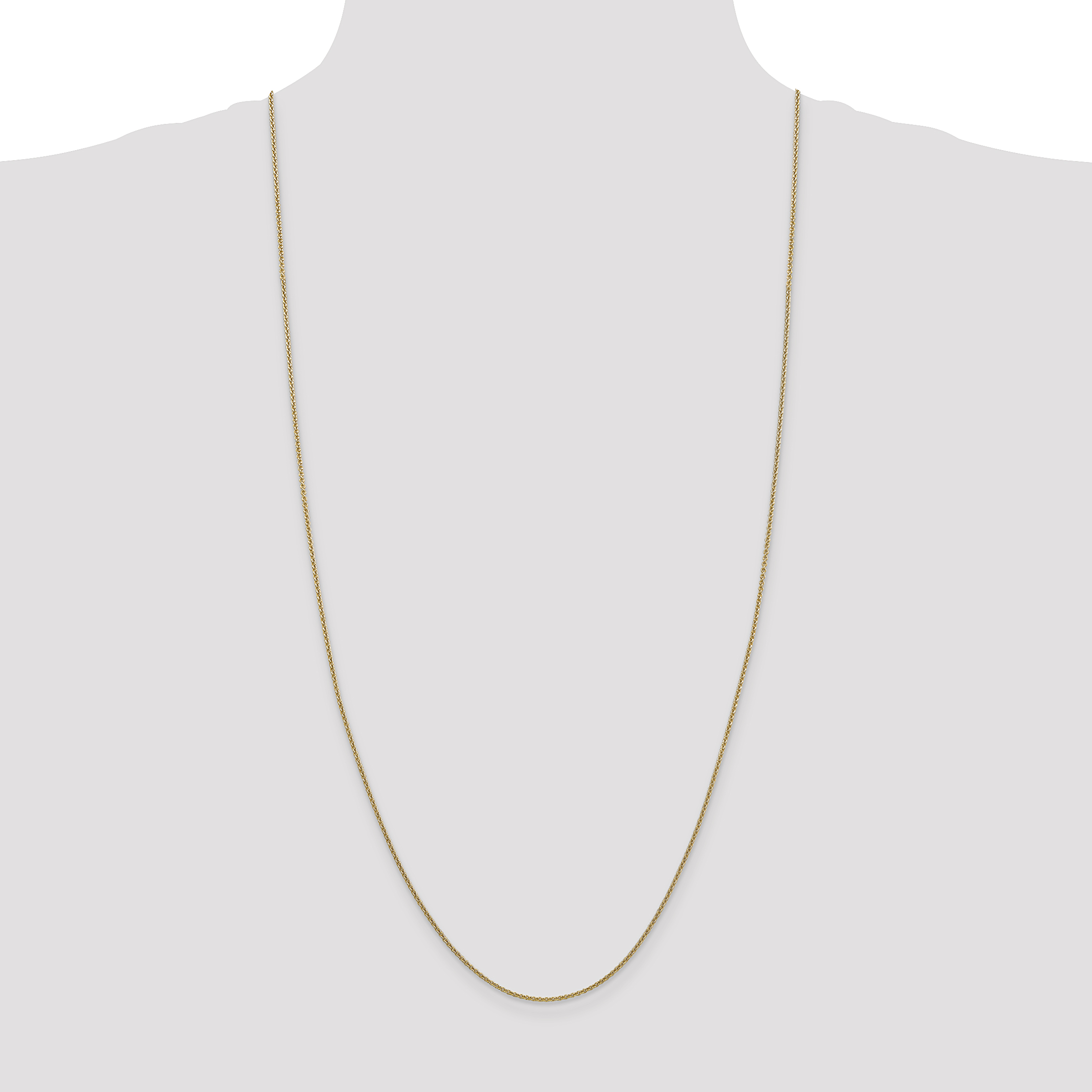 14k Yellow Gold 1.5mm Link Cable Chain Necklace 30 Inch Pendant Charm Fine Jewelry Gifts For Women For Her - image 1 of 5