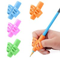 3/4Pcs Kids Handwriting Writing Aid Grip Set Pencil Grips Finger Correction