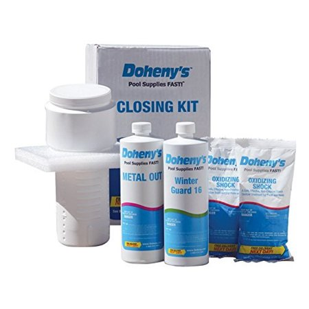 doheny\'s swimming pool winterizing chemical kit - up to 15,000 gallons