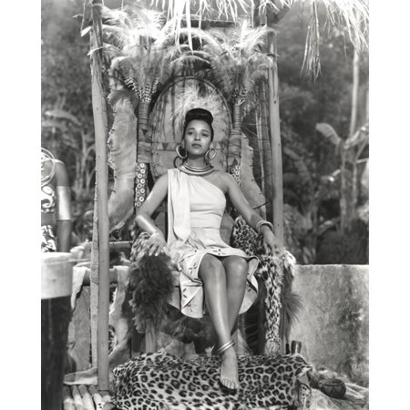 Dorothy Dandridge Seated in Classic with Amazon Attire Print Wall Art By Movie Star News (Amazon Classic)