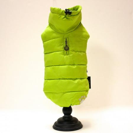 - Alpha Dog Series Puffy Parka Vest - Neon Yellow (5XL)